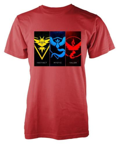 MYSTIC VALOR INSTINCT KIDS T-SHIRT 3-15 YEARS POKEY GO  WHICH TEAM ARE YOU