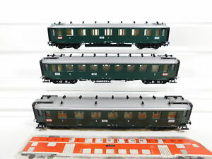 CG83-1-3x-Liliput-H0-DC-Personenwagen-Baden-NEM-14083-101-13898-Maengel