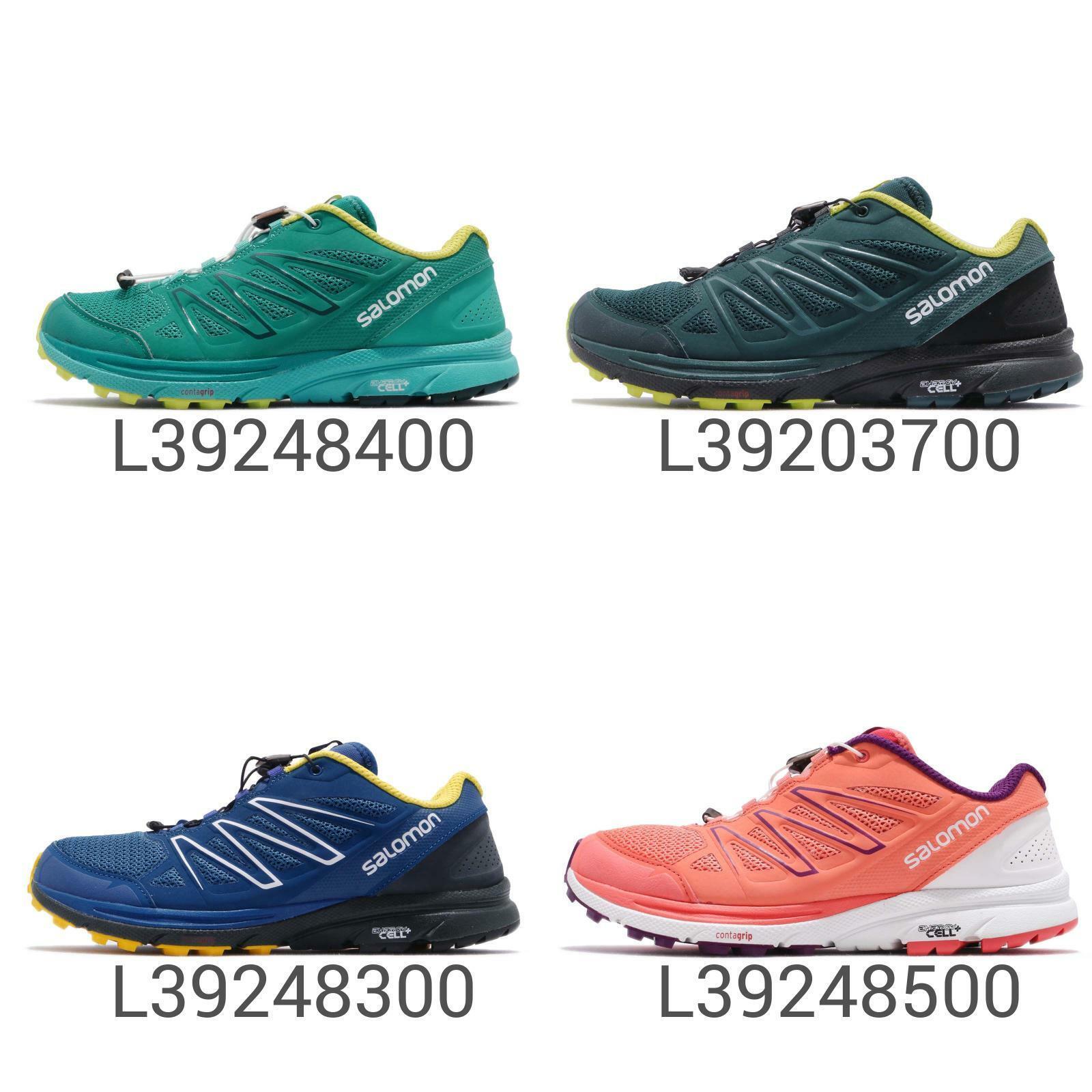 Salomon Sense Marin Blanc Vert Hommes Femmes de plein airs Trail FonctionneHommest chaussures Pick 1