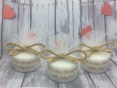 Personalised Christening Baptism Holy Communion Tealight Candle Favours Sets