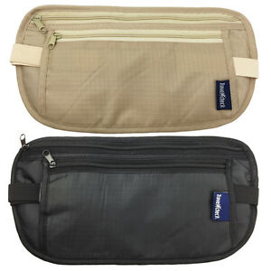 Travel-Passport-Waist-Pouch-Security-Bag-Money-Belt-Secure-Ticket-amp-Card-Wallet