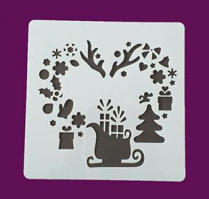 Schablone Weihnachten Stencil DIY Basteln für Schneespray,Wand,Stoffe,uvm.