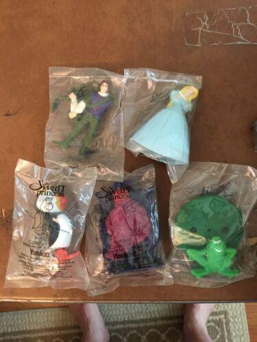 Complete Set 5 Hardees Kids Meal Toy 1994 THE SWAN PRINCESS DEREK ODETTE PUFFIN