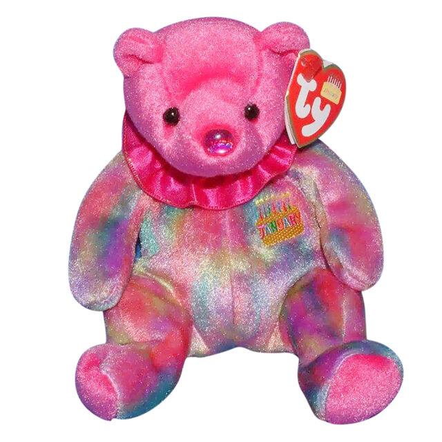 2b4f82b3015 Garnet January Birthday Birthstone Ty Beanie Babie Bear 3 up 1st ...