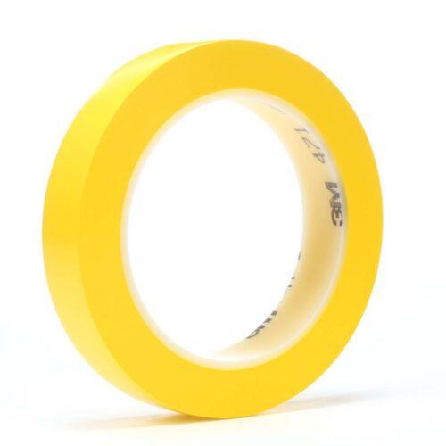 1//2 in x 36 yd 5.2 mil 3M Vinyl Tape 471 Yellow 72 per case Bulk 70002413030