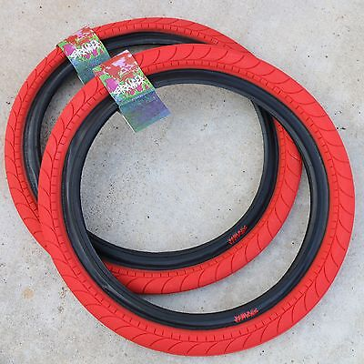 20x2.45 Red w// Black Sidewall Primo Churchill BMX Tire