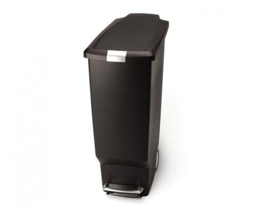 plastique Poubelle à pédale noir égouttoir slim 25 litres CW1343