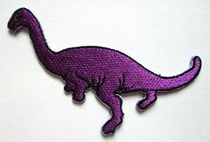 ORANGE CUTE PRETTY APATOSAURUS DINOSAUR Embroidered Iron on Patch Free Shipping
