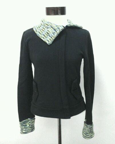 S Womens Zip Small Puma Sweatshirt Strik Jacket Trim 90 Sjælden Sort sweater Fuld 8wwRvxAq