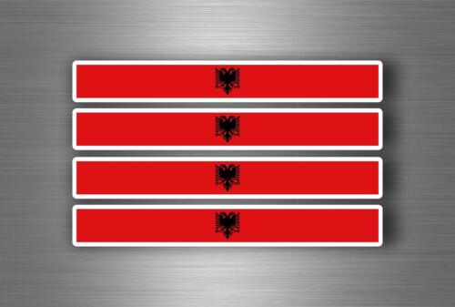 4x Autocollant sticker voiture moto stripes drapeau tuning brassard auto albanie