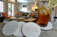 Mr.& Mrs. Absorbent Drink Coasters