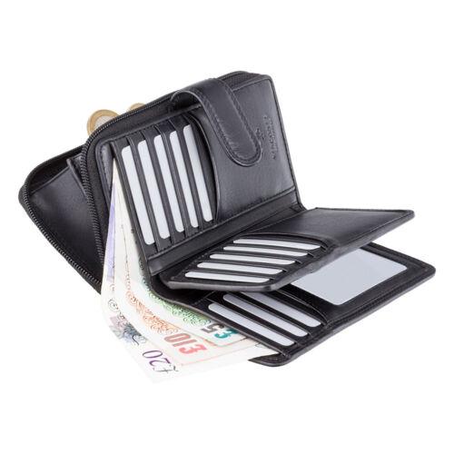 morbida pelle carte Visconti in 18 chocco nero Ht33 Portafoglio marrone HqwITX5xq