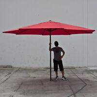 Brand 13' Feet Red Steel Outdoor Patio Umbrella Deck Gazebo Sun Shade on sale