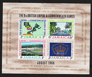 1966-Jamaica-Commonwealth-Games-Souvenir-Sheet-Sc-257a-MNH