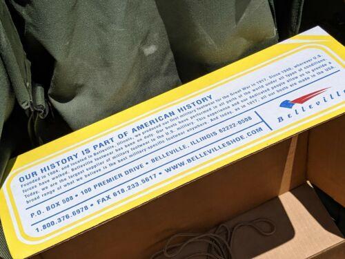 Belleville 790 G Homme Imperméable Vol Militaire Bottes de combat tan 8 W to14W nouveau