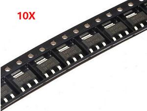 10Pcs AMS1117 5v AMS117-5.0 5.0V SOT223 voltage regulator H4
