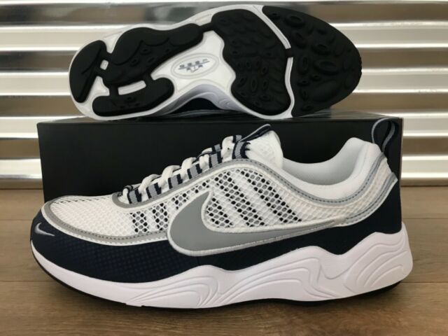cheap promo codes best selling Mens Nike Air Zoom Spiridon White Light Midnight Navy Silver 849776-103 US  10