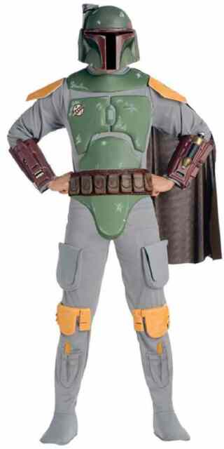 Boba Fett Star Wars Bounty Hunter Fancy Dress Up Halloween Deluxe Adult Costume