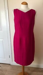 Ladies Austin Reed Pink Silk Linen Blend Shift Dress Size 12 Uk Ebay