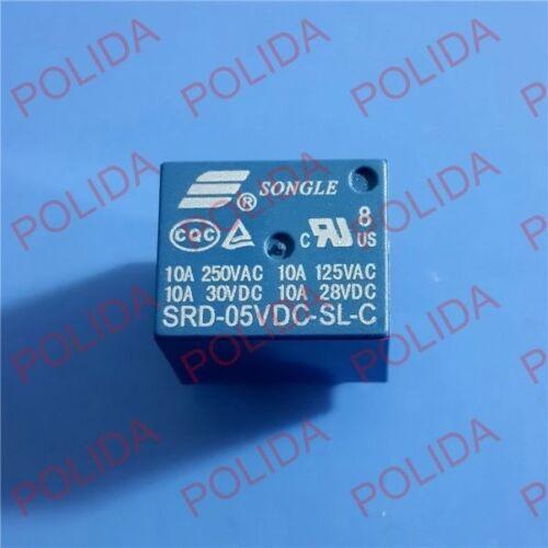 50PCS RELAY SONGLE DIP-5 SRD-05VDC-SL-C SRD-5VDC-SL-C SRD-5V-SL-C DC5V DC5