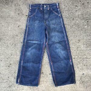 Vintage-1950s-Work-Wear-Denim-Jeans-Child-s-Kids-50s-Movie-Prop-24-X-22-Stencil