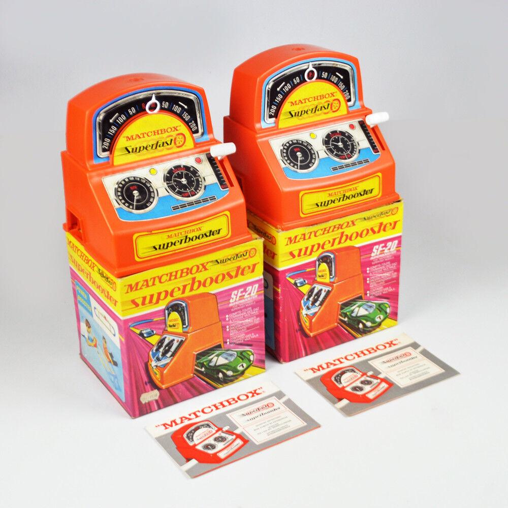 a la venta 2 x Matchbox Matchbox Matchbox súperfast súperbooster sf-20 - Power Booster-Vintage-defectuoso  punto de venta