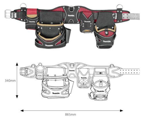 """rouge//or Makita 66-109 Super Champion Poids lourd outil ceinture pochette 34x13.5/"""" 3.5 LB environ 1.59 kg"""