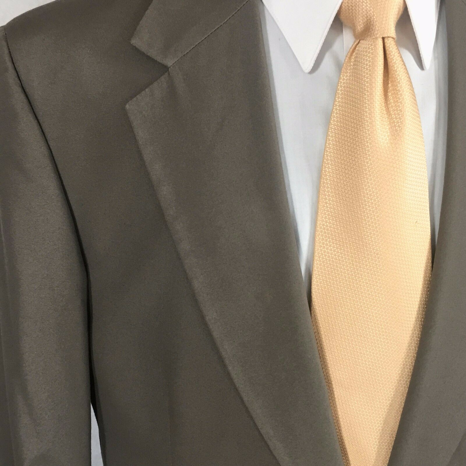 Brooks Brothers Uomo taupe summer weight cotton blend suit pleated pleated pleated pants 40R EUC 8bf0f9