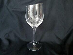 Pier-1-Angled-Rim-Crackle-White-Wine-Glass-8-034-Goblet-Retired