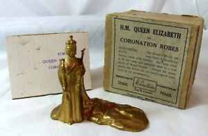 BRITAINS 1937 HM Queen Elizabeth in Coronation Robes - BOXED 1505 GILT FINISH