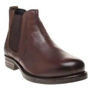 uomo Chelsea marrone scuro elasticizzati Nuovi in stivali da pelle Bang ExqTX