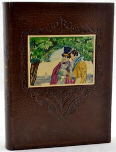 Graziella-LAMARTINE-1931-Belle-ill-BRUNELLESCHI-2-aquarelles-orig-sur-reliure