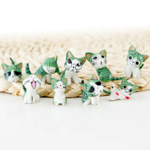 9pcs//set Anime Cheese Cat Toys Animals Action Figure Collection Decoration Gift