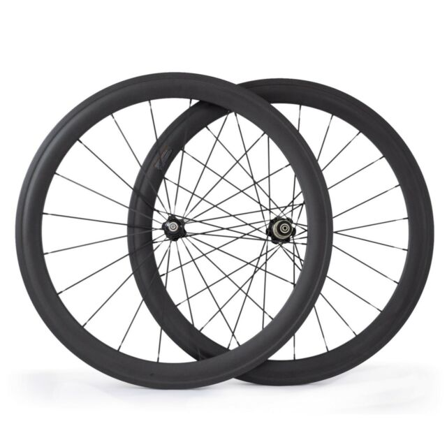 700C 50mm Clincher 23mm Wider Carbon Fiber Road Bicycle Racing Bike Wheels