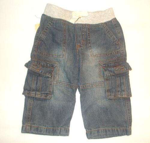 Cherokee Infant Boys Cargo Pants Denim Blue Size 12 Months  NWT