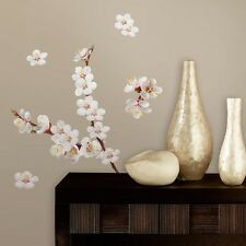 Roommates rmk2085scs dogwood branch peel and stick wall decals ebay 26 dogwood flowers wall decals white flowers stickers floral tree home decor new mightylinksfo