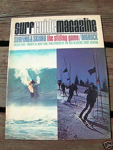 Vintage Surfer surfing magazine surf guide 1965 march surfboard longboard clean