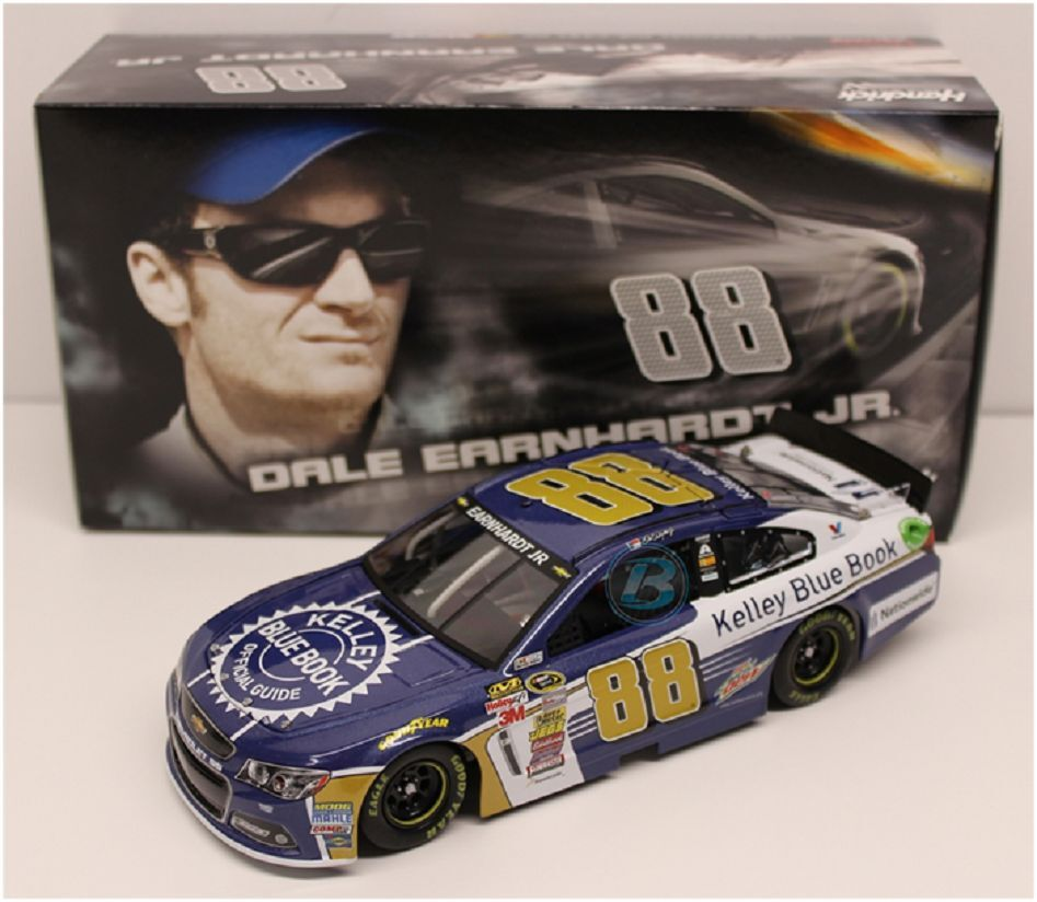 2015 DALE EARNHARDT JR #88 KELLY BLUE BOOK 1/24 DIECAST