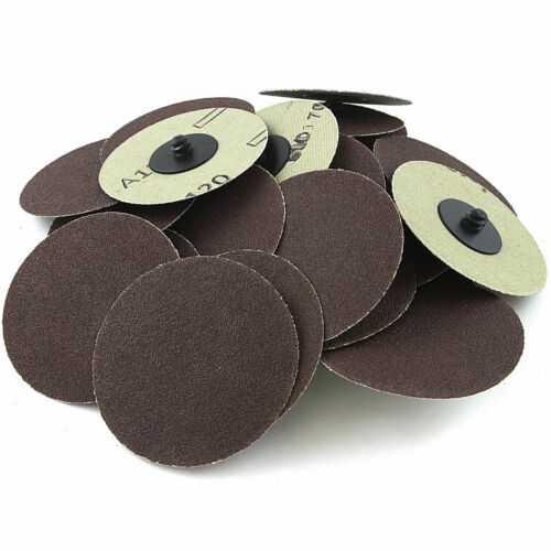 """60 AND 120 GRIT WITH A FREE MAND 75 PC 3/"""" INCH ROLL LOCK DISCS PADS SANDING 24"""