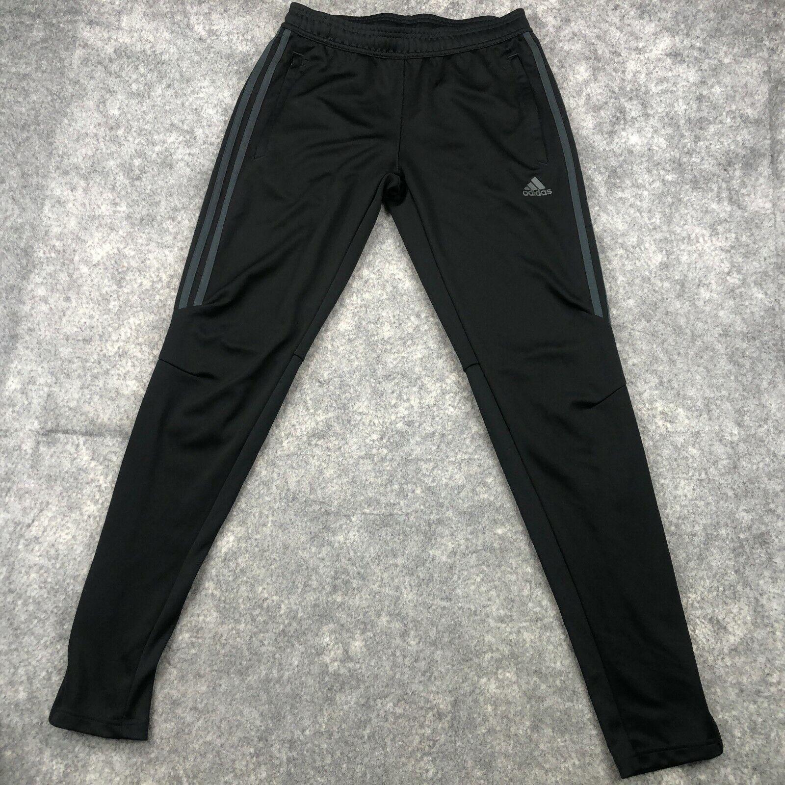 Adidas Sweatpants Womens Small Black Solid Track Pants Ladies Climacool b30