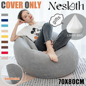 Swell Details About Large Bean Bag Chair Sofa Seat Cover Indoor Gaming For Adult Kids No Filling Unemploymentrelief Wooden Chair Designs For Living Room Unemploymentrelieforg