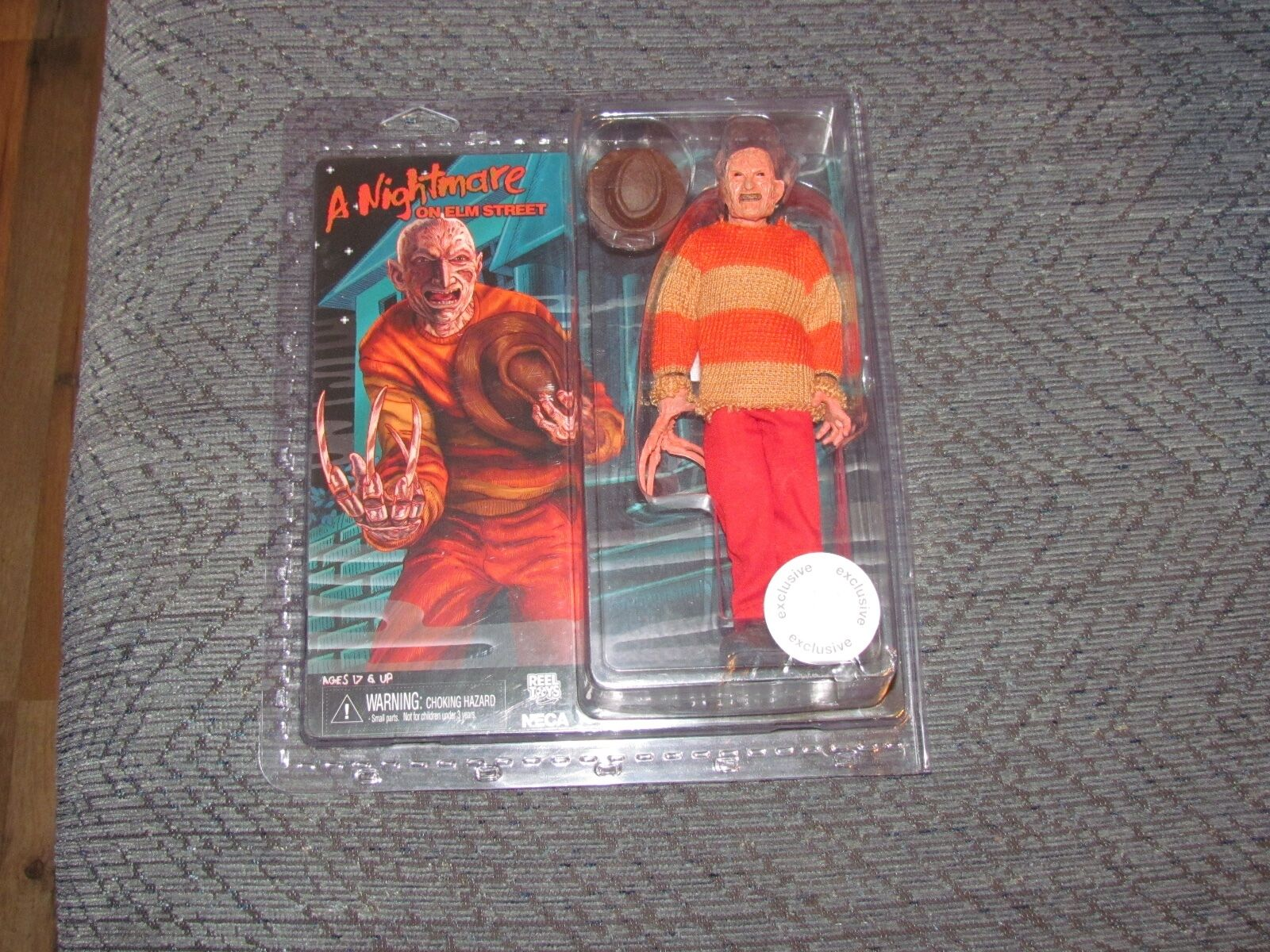 NECA A NIGHTMARE ON ELM STREET FROTDY KRUEGER EXCLUSIVE 1990 VIDEO NEW SEALED