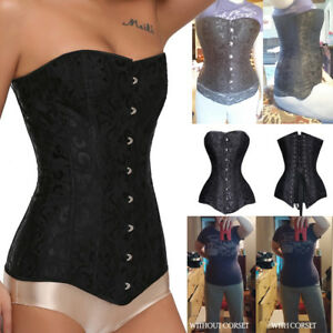 2017-NEW-Long-Line-Corset-Steel-Boned-Overbust-Long-Torso-Waist-Training-Corset
