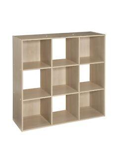 Details about ClosetMaid Cubeicals 9 Cube Organizer Birch