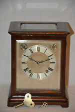 Winterhalder und Hofmeier Kaminuhr verglast Tischuhr Standuhr Glas Antique Clock