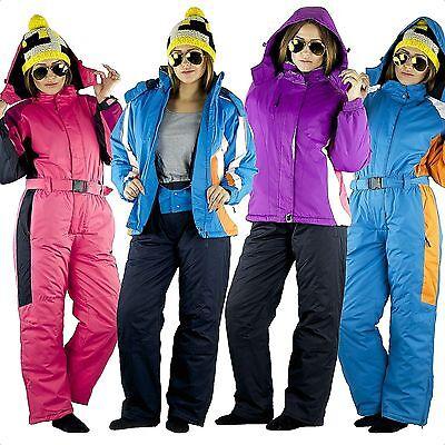Schneeoverall Schneeanzug Skianzug Jacke Hose Winter Kinder Mädchen Gr 134-170
