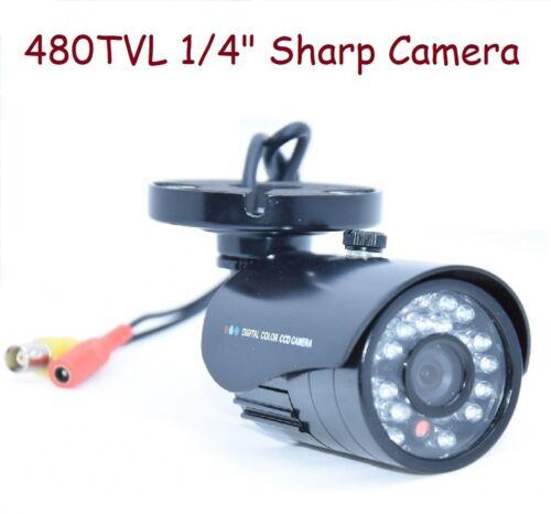 "Sunvision 480TVL CCTV Bullet Camera 1//4/"" Sharp 24 IR LEDs 3.6mm Lens 09"