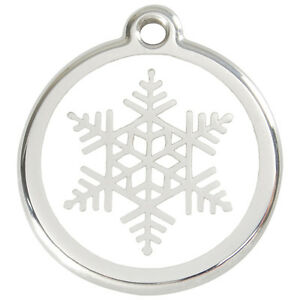 Snowflake-Engraved-Dog-Cat-ID-identity-Tags-discs-by-Red-Dingo-1SF
