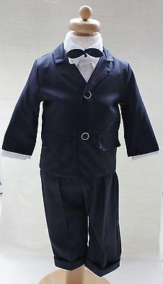 100% Vero Baby Boy Blu Navy Outfit Smart Suit Fiocco Cappello Panciotto Da Matrimonio Battesimo Paggio- Promuovere La Salute E Curare Le Malattie
