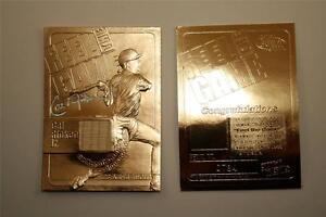CAL-RIPKEN-JR-2000-Feel-the-Game-Game-Used-Bat-23KT-Gold-Card-Sculptured-NM-MT